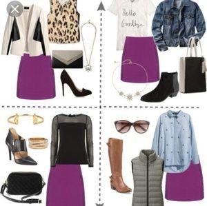 NWT Love Moschino purple mini skirt